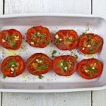 Oven Roasted Tomatoes with Garlic
